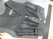 UNIK Clothing BLACK LEATHER VEST